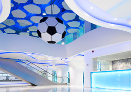 Ghelamco Arena, Ghent, Belgium – Interiors Project by Massive Design Wins <em>Interior Design</em> Best of Year Honoree Award 2013