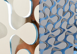 Hybrid Collection Mirrored Glass with Clover Pattern by Mac Stopa for Casali Wins <i> Interior Design</i> Best of Year Honoree Award 2015 in Architectural/Building Products Category