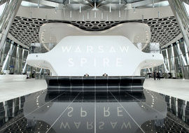 Warsaw Spire Lobby Wins Red Dot Design Award 2017 in Interior Architecture and Interior Design Category, Office Buildings Subcategory